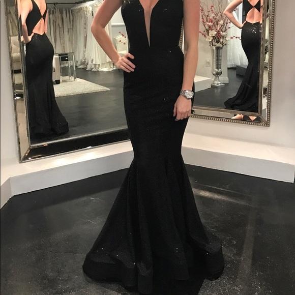 7462f2b913f8c Nicole Bakti Dresses   6744 Dress Evenimg Gown Black   Poshmark